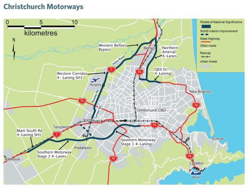 Chch motorways